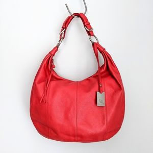 Puntotres Barcelona Red Leather Hobo Bag